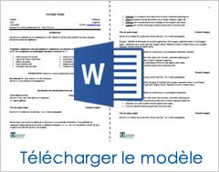 modèle cv québec gratuit La recette pour un curriculum vitae gagnant (modèle de CV à  modèle cv québec gratuit