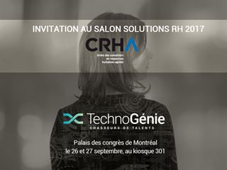 Invitation au Salon Solutions RH 2017